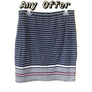 Blue Striped Skirt ✅Any Offer ✅